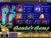 Genie's Gems Microgaming Slot