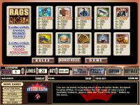 Rags to Riches 20 Lines CryptoLogic Slot
