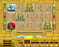 Treasures of Pharaohs 15 Lines Topgame Slot