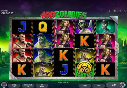 100 Zombies Endorphina Free Spins