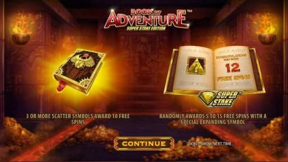 Book of Adventure: Super Stake Edition StakeLogic Free Spins