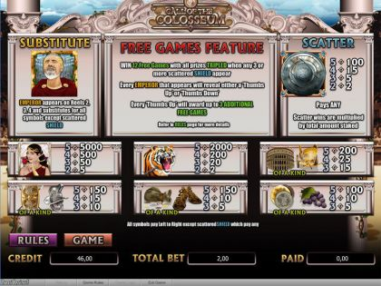 Call of the Colosseum Amaya Free Spins