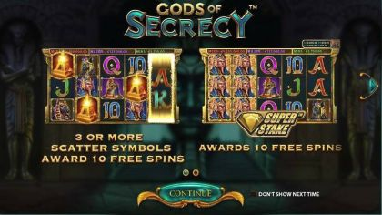 Gods of Secrecy StakeLogic Free Spins