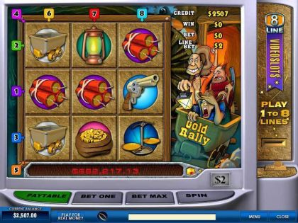 Gold Rally 8 Line PlayTech Second Screen Game