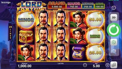 Lord Fortune Booongo Free Spins