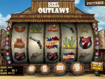 Reel Outlaws BetSoft Second Screen Game