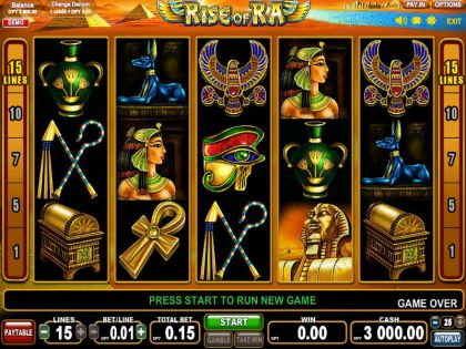 Rise of Ra EGT Free Spins