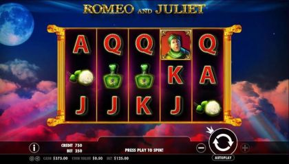 Romeo and Juliet Pragmatic Play Free Spins