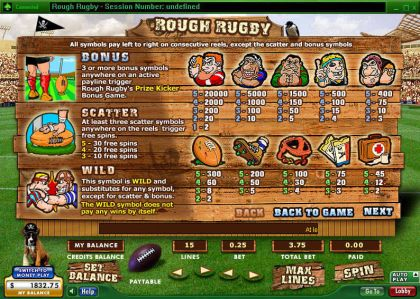 Rough Rugby 888 Free Spins