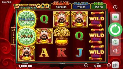 Super Rich God: Hold and Win Booongo Free Spins