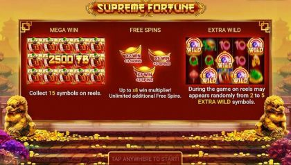 Supreme Fortune Booongo Free Spins