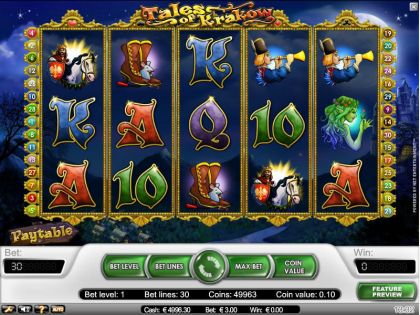 Tales of Krakow NetEnt Free Spins