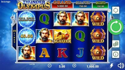 Thunder of Olympus Booongo Free Spins