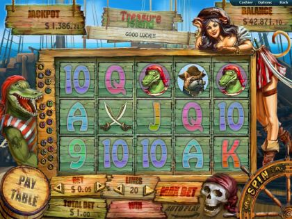 Treasure Island RTG Free Spins