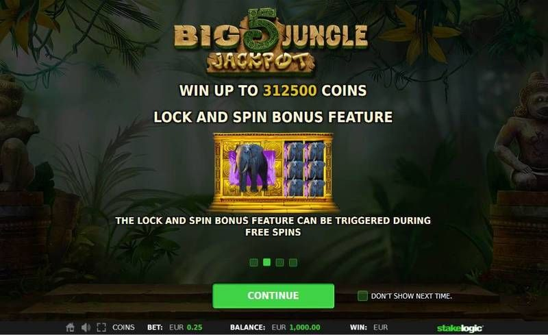 Big 5 Jungle Jackpot StakeLogic Slot