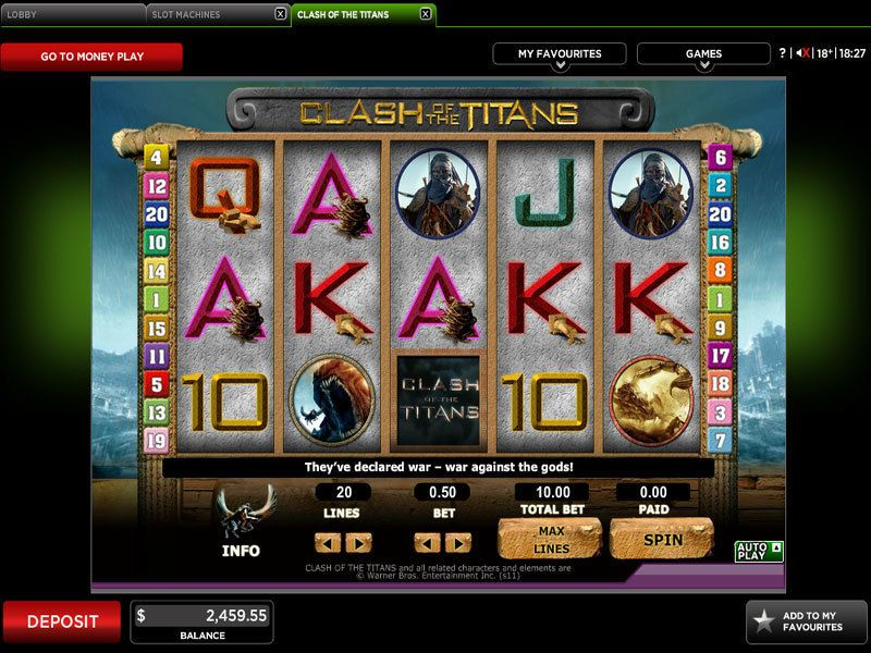 Clash of the Titans 888 Slot