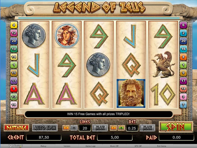 Legend of Zeus bwin.party Slot