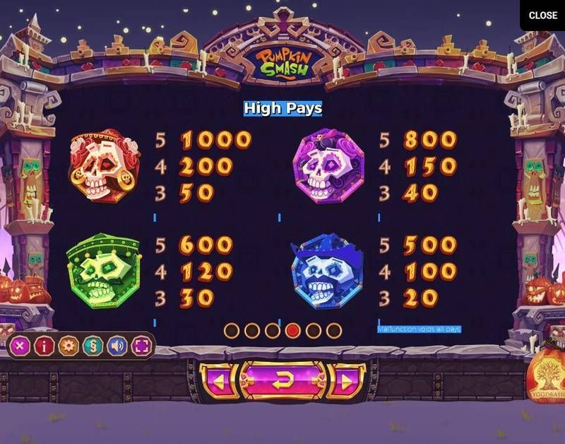Pumpkin Smash Yggdrasil Slot